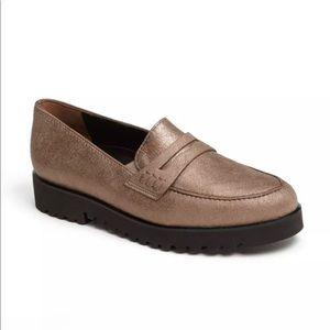 Paul Green   Dex Metallic Leather Loafers 6 US 3.5